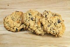Biscotti di uva passa della farina d'avena Immagini Stock Libere da Diritti