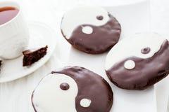 Biscotti di yang e di Yin fotografie stock
