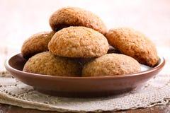 Biscotti di zucchero bruno piccanti molli Fotografia Stock