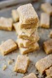 Biscotti di zucchero casalinghi fatti da semolino con zucchero Fotografia Stock Libera da Diritti