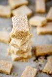 Biscotti di zucchero casalinghi fatti da semolino con zucchero Fotografia Stock