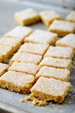 Biscotti di zucchero casalinghi fatti da semolino con zucchero Immagine Stock