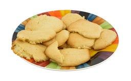 Biscotti di zucchero casalinghi sul piatto Fotografie Stock