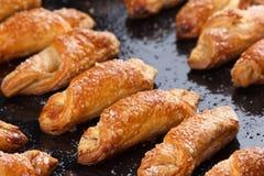 Biscotti di zucchero che cuociono in forno Fotografia Stock