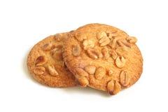 Biscotti di zucchero con le arachidi Immagini Stock
