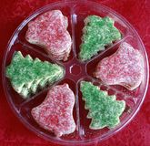 Biscotti di zucchero di natale Fotografia Stock