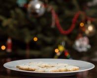 Biscotti di zucchero di Natale fotografie stock