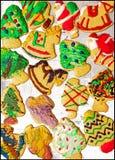 Biscotti di zucchero di natale - presentazione grafica Fotografia Stock