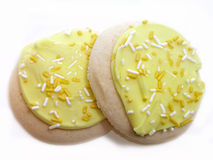 Biscotti di zucchero glassati limone Fotografia Stock Libera da Diritti