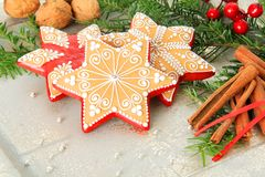 Biscotti di zucchero di Natale Fotografia Stock Libera da Diritti