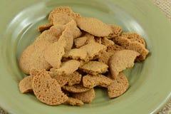 Biscotti di zucchero rotti della cannella Fotografie Stock Libere da Diritti