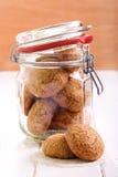 Biscotti di zucchero in un barattolo Fotografia Stock