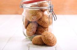 Biscotti di zucchero in un barattolo Fotografie Stock