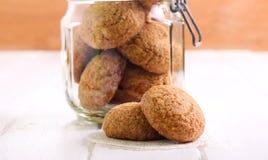 Biscotti di zucchero in un barattolo Fotografia Stock Libera da Diritti