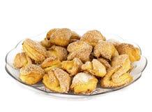 Biscotti di zucchero in un piatto Fotografia Stock Libera da Diritti
