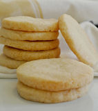 Biscotti di zucchero vanigliato fatti domestici deliziosi dei biscotti colpo alto vicino del dettaglio Fotografia Stock
