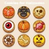 Biscotti divertenti svegli di Halloween del fumetto Fotografie Stock Libere da Diritti