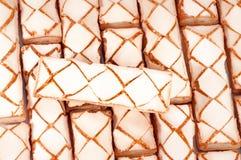 Biscotti dolci come priorità bassa Vista superiore immagine stock libera da diritti