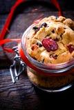 Biscotti dolci del mirtillo rosso Fotografie Stock