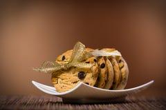 Biscotti dolci legati con il nastro Fotografia Stock