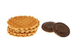 Biscotti dolci su bianco Fotografia Stock Libera da Diritti