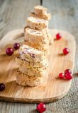 Biscotti with dried cranberries Stock Photography