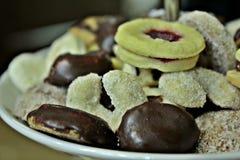Biscotti e biscotti Fotografie Stock