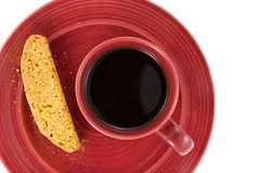 Biscotti e café Fotos de Stock Royalty Free