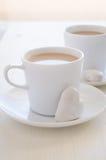 biscotti e caffè di Cuore-forma Fotografie Stock Libere da Diritti