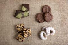 Biscotti e cioccolato Fotografie Stock Libere da Diritti