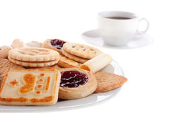 Biscotti e cofee Fotografie Stock Libere da Diritti