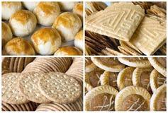 Biscotti e collage asiatici sudorientali della pasticceria Immagine Stock Libera da Diritti