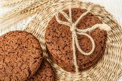 Biscotti e grano dell'avena Immagini Stock Libere da Diritti