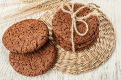Biscotti e grano dell'avena Immagini Stock