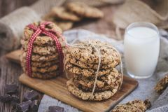 Biscotti e latte immagini stock libere da diritti