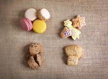 Biscotti e macarons Fotografie Stock