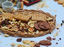 Biscotti e primo piano della pasticceria Fotografia Stock Libera da Diritti