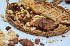 Biscotti e primo piano della pasticceria Immagine Stock