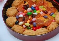 Biscotti e primo piano della pasticceria Fotografie Stock Libere da Diritti