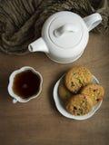 Biscotti e tè Fotografia Stock