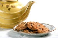 Biscotti e teiera Fotografia Stock
