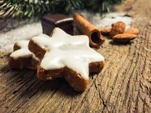 Biscotti fini della cannella Fotografie Stock