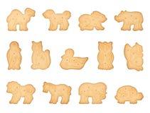 Biscotti a forma di animali Fotografia Stock