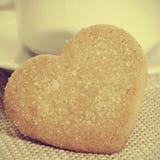 Biscotti in forma di cuore di shortbread Immagini Stock