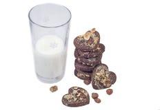 Biscotti a forma di del cuore Immagini Stock