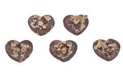Biscotti a forma di del cuore Immagini Stock Libere da Diritti