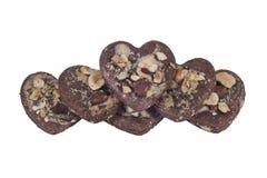 Biscotti a forma di del cuore Fotografie Stock