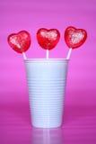 Biscotti a forma di del cuore Fotografie Stock Libere da Diritti