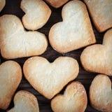 Biscotti a forma di del cuore Fotografia Stock