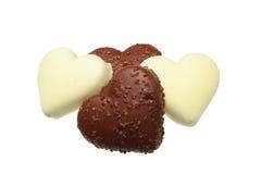 Biscotti a forma di del cuore fotografia stock libera da diritti